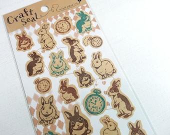 Bel coniglio carta adesivo - 1 foglio