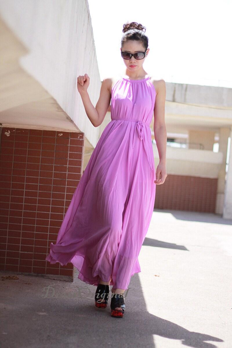 lila Maxi-Kleid lila Kleid Sommerkleid benutzerdefinierte
