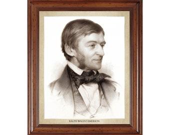 Ralph Waldo Emerson portrait; 16x20 print on premium heavy photo paper