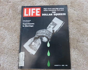 Vintage LIFE! August 15, 1969, High taxes and high prices.