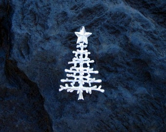 Sterling Silver 3D Christmas Tree Pendant - #422