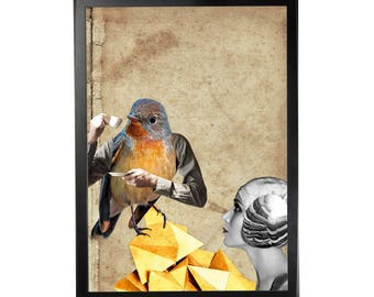 Art print poster collage DADA #8 in A3 (29, 7x42cm)