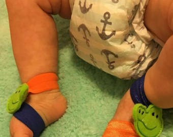 Baby Barefoot Sandals/ Gators/Baby Shoes/Baby boy/Baby gift/photo prop/Sports