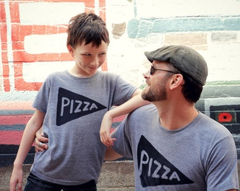 Matching Father Son Pizza T Shirts, dad gift from son, matching t shirts family, men funny tshirt, men graphic tee, dad daughter food tshirt