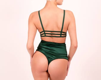 Diana: Silk Satin High Waisted Thongs. 22 Colors.