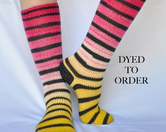 "Striped Gradient Matching Socks Set - ""Lemonade Stand"""