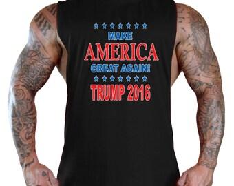 Make America Great Again Trump 2016 T-Shirt Bodybuilding Tank Top Black All size S-3XL