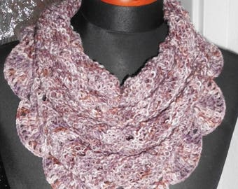 Neck warmer, scarf collar, soul warmer knitted/crocheted