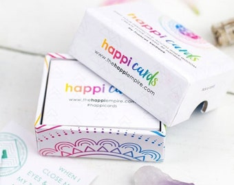 ON SALE! Happi Cards Oracle Deck - 57 Cards filled with Positive Messages and Good Vibes for your Spiritual Journey - Tarot Cards