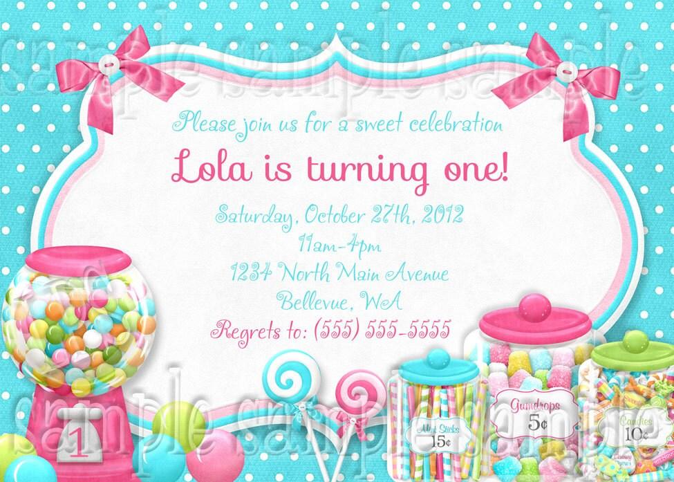 Sweet shoppe birthday invitation printable digital file zoom stopboris Gallery