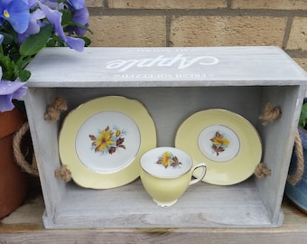 Great Gift Idea ** Vintage Bone China Trio, Tea Cup Candle