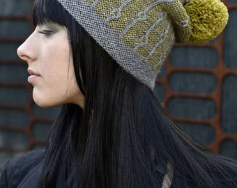 Joyce slouchy beanie Hat PDF knitting pattern (instructions)