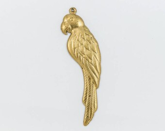 55mm Raw Brass Left Facing Parrot #CHA114