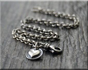 Sterling Silver European Style Charm Bracelet, Handmade Slide Charm Bracelet, Layering Charm Bracelet, Will Fit Any European Style Charms