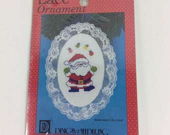 Designs for the Needle Lace Ornament,Vintage Cross Stitch Kit,Juggling Santa,1234,Christmas,Funny,Humor,Decor