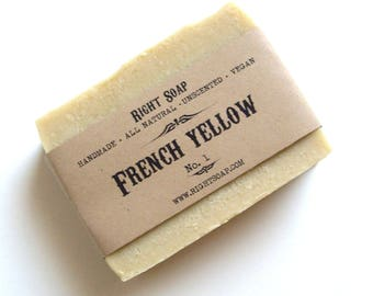 Detox Soap Clay All Natural Soap Bar Vegan Soaps Unscented Acne Soap Homemade Cold Process Soap French Yellow Clay Soap