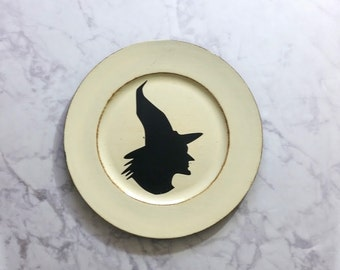 Halloween Charger Witch Silhouette