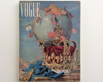 Coronation of George VI Commermerative British Vogue Magazine April 28th 1937