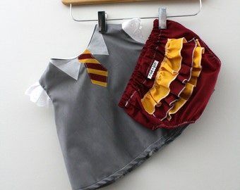 Wizard Student Costume - Shirt and Diaper Cover