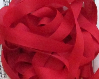 Christmas & Valentine Red Seam Binding Silky Rayon Seam Binding Ribbon - 9 yards PSS 0007