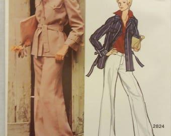 2824 Vintage Vogue Americana Designer Anne Klein With Tag Pattern Size 16