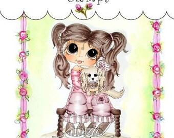 My-Besties Clear Rubber Stamp Big Eye Besties Big Head Dolls Wendy & Wag MYB-0107  By Sherri Baldy
