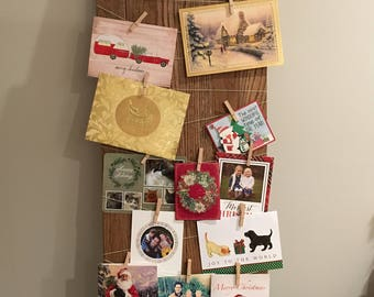 Merry Mail Christmas Card Display