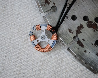 Industrial pendant - upcyced - postapocalyptic - Mad Max - Fallout - Burning man