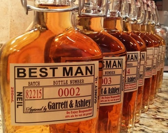 Will you Be My Groomsman - Best Man Gift - Wedding Liquor Labels - Groomsman Liquor Labels - Front Bottle Labels Only - Best Man Gift