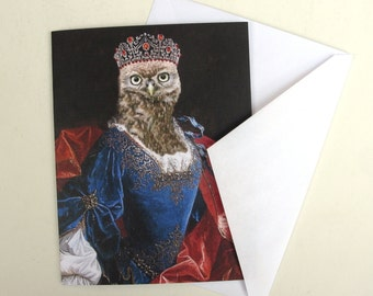 Lady Aves of Strigidae - Note Card