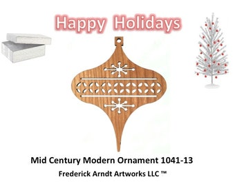 1041-13 Mid Century Modern Christmas Ornament