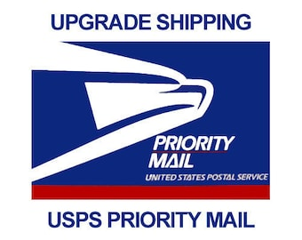 Priority Mail Upgrade ~ Please send my items by Priority Mail instead of First Class ~ USA ONLY ~ 1-3 day ship time  with USPS Priority Mail