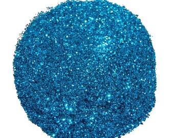 Teal Blue Glitter, SOLVENT RESISTANT, Glitter, 0.015 Hex, Nail Glitter, Nail Polish Glitter, Craft Glitter, Blue Glitter, Slime Glitter