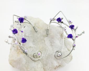 Elf Ears - Elven Ear Cuffs - Elven Ears - Elf Ear Cuff - Fairy Ear Cuff - Fairy Ears - Woodland Fairy Costume - Wire Ear Cuff - Gothic Ears