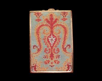 Vintage Schildkraut Micro Floral Petit Point Compact