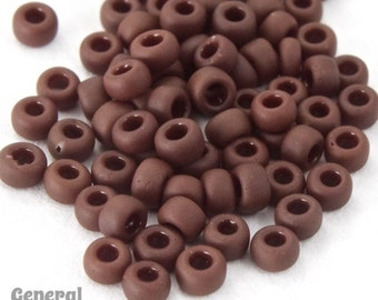11/0 Matte Opaque Chocolate Japanese Seed Bead (40 gm) #JPJ015