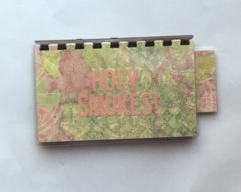Handmade Peach 'Holy Smokes!' Blank Recipe book for Personal Recipes