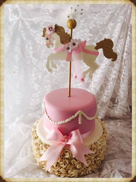 Carousel Horse Cake Topper Carousel Horse Party Decorations