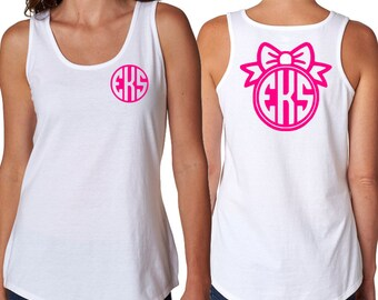 Women's Monogrammed Tank Top / Swimsuit Cover