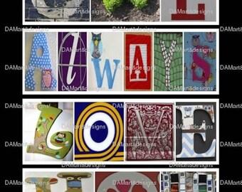 Owl Always Love You  Alphabet Photo Art