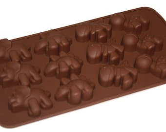 Taavi Cute Mini Dinosaur Silicone Mold (Candy, Chocolate, Ice Cubes, Finger Jello, Butter, and more) (T805)