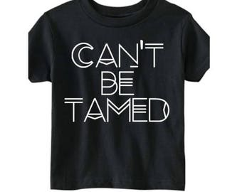 Can't be tamed boy's shirt