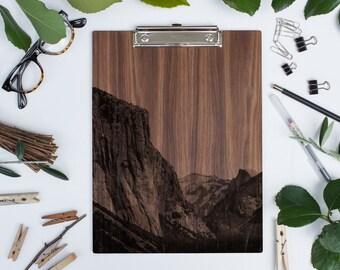 Wood Clipboard | El Capitan Yosemite NP - WALNUT
