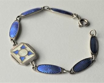 Norwegian Sterling Silver Enamel Bracelet
