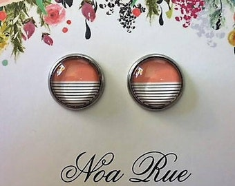 Rose Horizons 12mm Stud Earrings