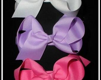 Bouthique HEADBANDS, Boutique HEADBAND with Hair bow. Ribbon Headbands, Girls Headbands,Back to School Bows, Large bow headband,