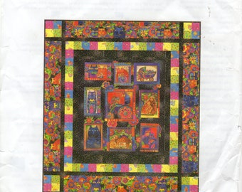 RARE Fanciful Felines by Laurel Burch Quilt Kit with Free Pattern