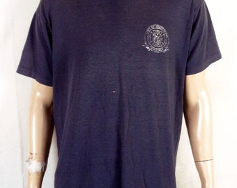 vtg 80s distressed Paper Thin Brentwood MO Fire Department T-Shirt sz XL