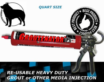 G-GUN GROUTENATOR SYSTEM - Grout injection systems for Grout & Mortar - Grout Bag and Float replacement - Refillable Quart size tube