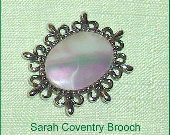 Sarah Coventry  Vintage Brooch Pin Jewelry Made in Canada